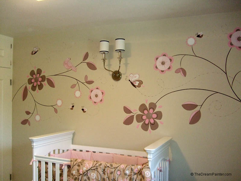 flowers_bees_butterflies_mural_baby_girl_nursery