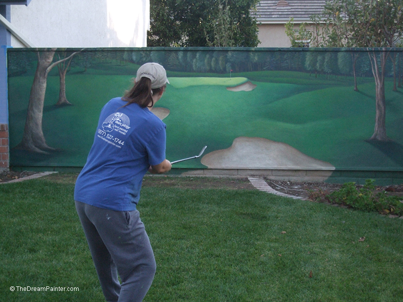 painted Golf course outside wall
