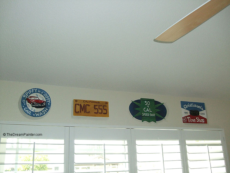 route-66 mural, car-signs, simi-valley (boy's bedroom)