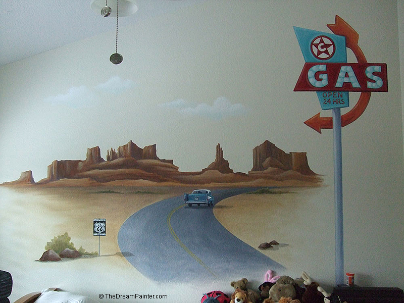 route 66 mural, simi valley, ca (boy's bedroom)